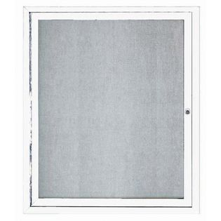 "Aarco ODCC3630RIW 1 Door Outdoor Illuminated Enclosed Bulletin Board with Aluminum Frame 36"" x 30"""