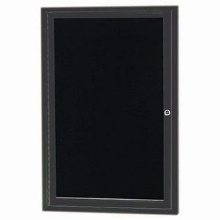 "Aarco OADC2418B 1 Door Outdoor Enclosed Directory Board with Blue Anodized Aluminum Frame 24"" x 18"""