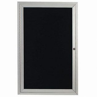 "Aarco OADC2418I 1 Door Outdoor Illuminated Enclosed Directory Board with Aluminum Frame and Header 24"" x 18"""