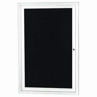 "Aarco OADC2418W 1 Door Outdoor Enclosed Directory Board with White Anodized Aluminum Frame 24"" x 18"""