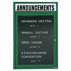 "Aarco OADC3624G 1 Door Outdoor Enclosed Directory Board with Green Anodized Aluminum Frame 36"" x 24"""