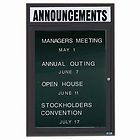 "Aarco OADC3624HBA 1 Door Outdoor Enclosed Directory Board with Bronze Anodized Aluminum Frame and Header 36"" x 24"""