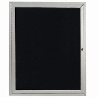 "Aarco OADC3630I 1 Door Outdoor Illuminated Enclosed Directory Board with Aluminum Frame 36"" x 30"""