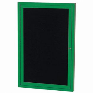 """Aarco OADC4836G 1 Door Outdoor Directory Board with Green Anodized Aluminum Frame 48"""" x 36"""""""