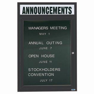 """Aarco OADC4836HBA 1 Door Outdoor Enclosed Directory Board with Bronze Anodized Aluminum Frame  48"""" x 36"""""""