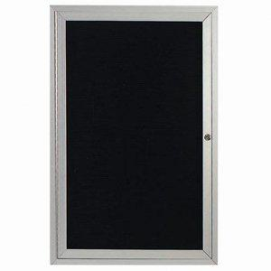 "Aarco OADC4836I 1 Door Outdoor Directory Board with Aluminum Frame 48"" x 36"""
