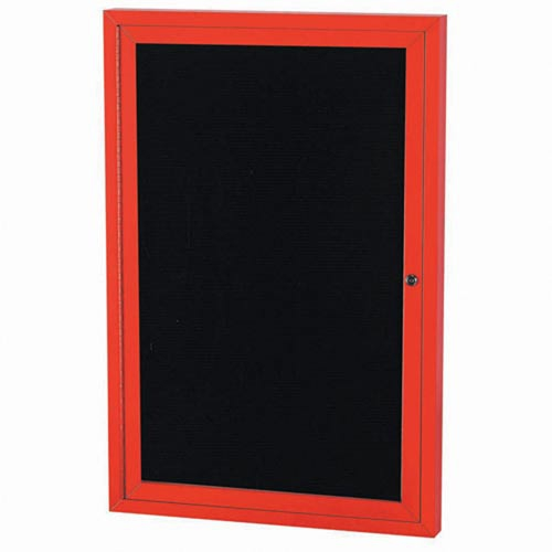 "Aarco OADC4836R 1 Door Outdoor Directory Board with Red Anodized Aluminum Frame 48"" x 36"""