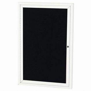 """Aarco OADC4836W 1 Door Outdoor Directory Board with White Anodized Aluminum Frame 48"""" x 36"""""""