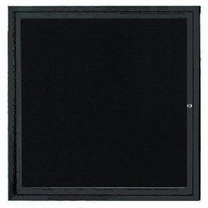 "Aarco ODCC3624RHBK 1 Door Outdoor Enclosed Bulletin Board with Black Powder Coated Aluminum Frame and Header 36"" x 24"""