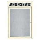 "Aarco RHI4836V Removable Letter Panel for Enclosed Bulletin Board, Outdoor Model  48"" x 36"""