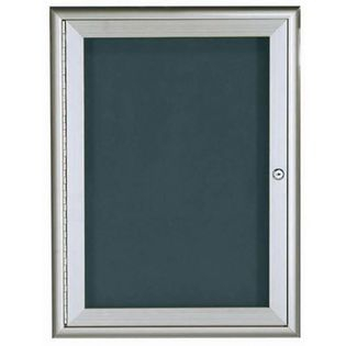 Aarco WFD2418 1 Door Enclosed Directory Board with Waterfall Style Aluminum Frame - Silver Finish 24