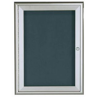 Aarco WFD3624 1 Door Enclosed Directory Board with Waterfall Style Aluminum Frame - Silver Finish  36
