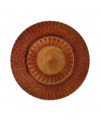 """10 Strawberry Street AZT-340(CPR) Aztec Copper Glass Charger Plate 13"""" (Set of 6)"""