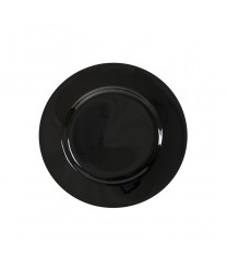 10 Strawberry Street BRB0005 Black Rim Bread and Butter Plate 6-3/4'' - Case of 24