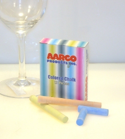 Aarco CCS-12 12 Piece Colored Chalk Box - 12 Boxes