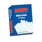 Aarco WCS-12 12 Piece White Chalk Box - 12 Boxes