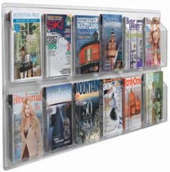 """Aarco LRC117 Clear-Vu Magazine and Literature Display - 12 Pocket  25"""" x 60"""""""
