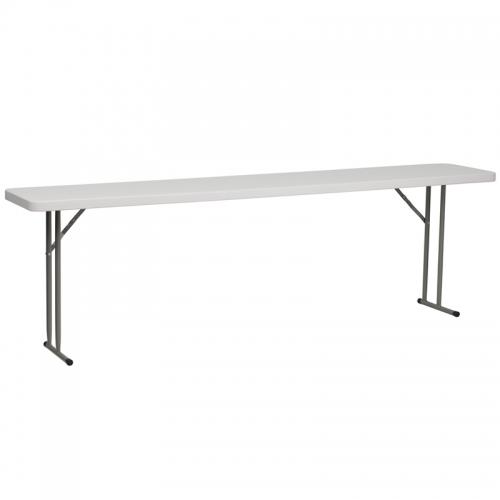 Flash Furniture  18''W x 96''L Granite White Plastic Folding Training Table [RB-1896-GG]