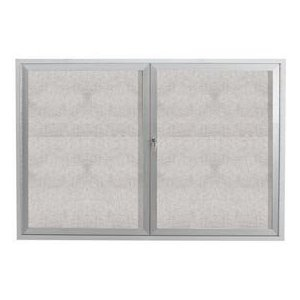 "Aarco ODCC3648R 2 Door Outdoor Enclosed Bulletin Board with Aluminum Frame 36"" x 48"""