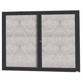 """Aarco ODCC3648RBK 2 Door Outdoor Enclosed Bulletin Board with Black Powder Coated Aluminum Frame 36"""" x 48"""""""