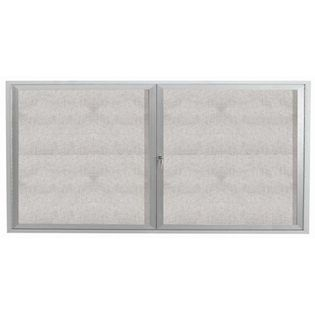 "Aarco ODCC3672R 2 Door Outdoor Enclosed Bulletin Board with Aluminum Frame 36"" x 72"""