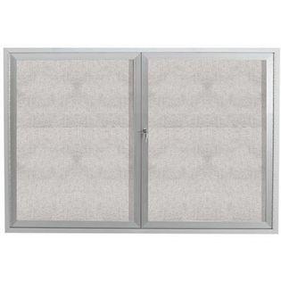 "Aarco ODCC4872R 2 Door Outdoor Enclosed Bulletin Board with Aluminum Frame 48"" x 72"""