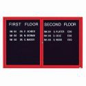 Aarco ADC4872IR 2 Door Illuminated Enclosed Directory Board with Red Anodized Aluminum Frame 48