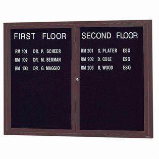 Aarco ADC3648BA 2 Door Enclosed Directory Board with Bronze Anodized Aluminum Frame 36