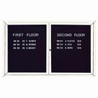 Aarco ADC3660B 2 Door Enclosed Directory Board with Blue Anodized Aluminum Frame 36
