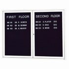 Aarco ADC4860G 2 Door Enclosed Directory Board with Green Anodized Aluminum Frame 48