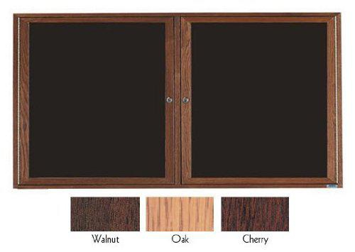 Aarco ODC3672 2 Door  Enclosed Changeable Letter Board with Oak Finish 36