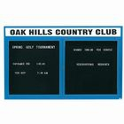 """Aarco OADC3660HIBK 2 Door Outdoor Illuminated Enclosed Directory Board with Black Anodized Aluminum Frame 36"""" x 60"""""""