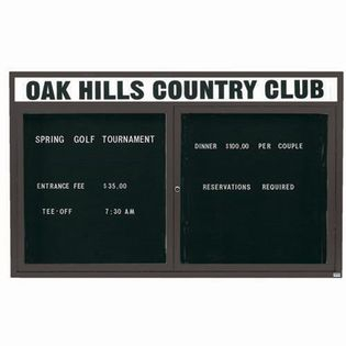 """Aarco OADC4872HIBA 2 Door Outdoor Illuminated Enclosed Directory Board with Bronze Anodized Aluminum Frame 48"""" x 72"""""""