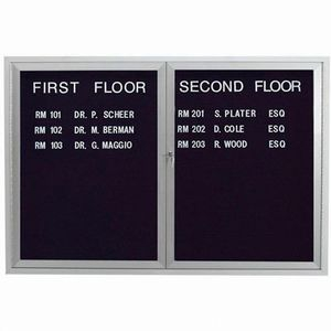 "Aarco OADC3648 2 Door Outdoor Enclosed Directory Board with Aluminum Frame 36"" x 48"""