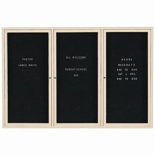 "Aarco OADC4872 2 Door Outdoor Enclosed Directory Board with Aluminum Frame 48"" x 72"""