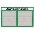 "Aarco ODCC3660RHG 2 Door Outdoor Enclosed Bulletin Board with Green Powder Coated Aluminum Frame and Header 36"" x 60"""
