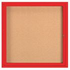 Aarco WBC3648RC 2 Door Enclosed Bulletin Board with Crown Molding and Walnut Finish 36