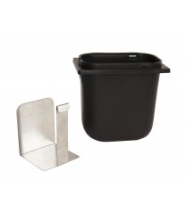Grindmaster-Cecilware A9204 Black Spoon Holder Jar with Stainless Steel Divider 2.5 Qt.