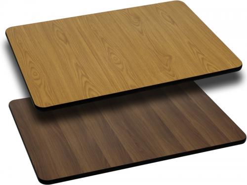 Flash Furniture 24'' x 30'' Rectangular Table Top with Natural or Walnut Reversible Laminate Top [XU-WNT-2430-GG]