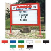 "Aarco DMBM5272BA Double Side Marquee Sign  Header Only - Bronze Anodized  52"" x 72"""