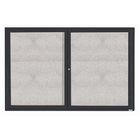 """Aarco ODCC3672-3RBA 3 Door Enclosed Bulletin Board with Bronze Anodized Aluminum Frame 36"""" x 72"""""""