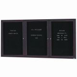 Aarco ADC3672-3BA 3 Door Enclosed Directory Board with Bronze Anodized Aluminum Frame 36