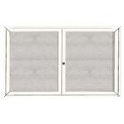 "Aarco ODCC4872-3RIW 3 Door Outdoor Illuminated Enclosed Bulletin Board with White Powder Coated Aluminum Frame 48"" x 72"""