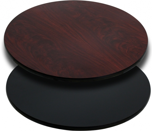 Flash Furniture 30'' Round Table Top with Black or Mahogany Reversible Laminate Top [XU-RD-30-MBT-GG]