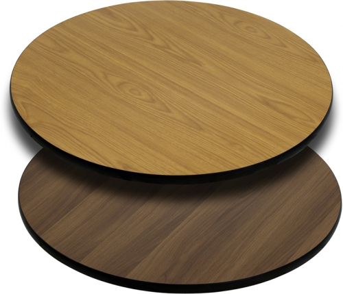 Flash Furniture 30'' Round Table Top with Natural or Walnut Reversible Laminate Top [XU-RD-30-WNT-GG]
