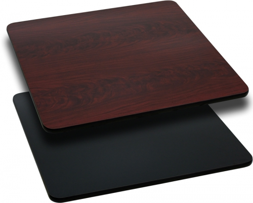 Flash Furniture 30'' Square Table Top with Black or Mahogany Reversible Laminate Top [XU-MBT-3030-GG]