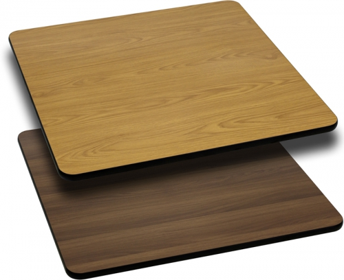 Flash Furniture 30'' Square Table Top with Natural or Walnut Reversible Laminate Top [XU-WNT-3030-GG]