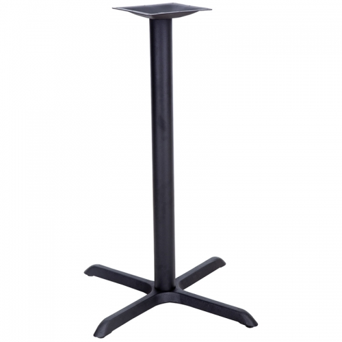 Flash Furniture 30'' x 30'' Restaurant Table X-Base with 3'' Bar Height Column [XU-T3030-BAR-GG]