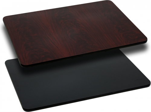 Flash Furniture 30'' x 42'' Rectangular Table Top with Black or Mahogany Reversible Laminate Top [XU-MBT-3042-GG]