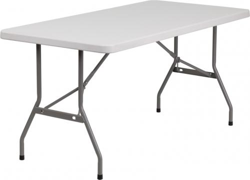 Flash Furniture  30''W x 60''L Blow Molded Plastic Folding Table [RB-3060-GG]